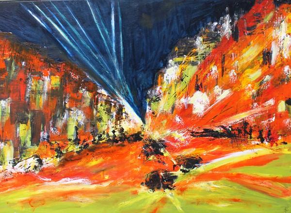 City Lights, Oils on canvas-600x439