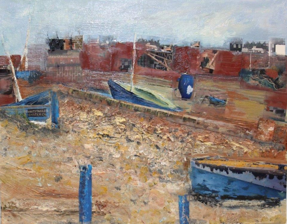 Old Hulk in Whitstable Harbour, Oils & Mixed Media, £295
