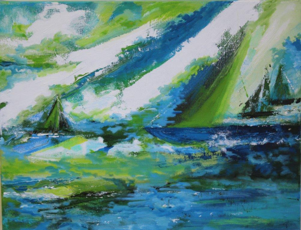 Sea and Sail, Oils, £195