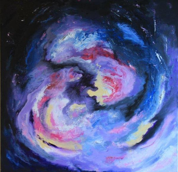 Into Space, Oils, £250 00x580