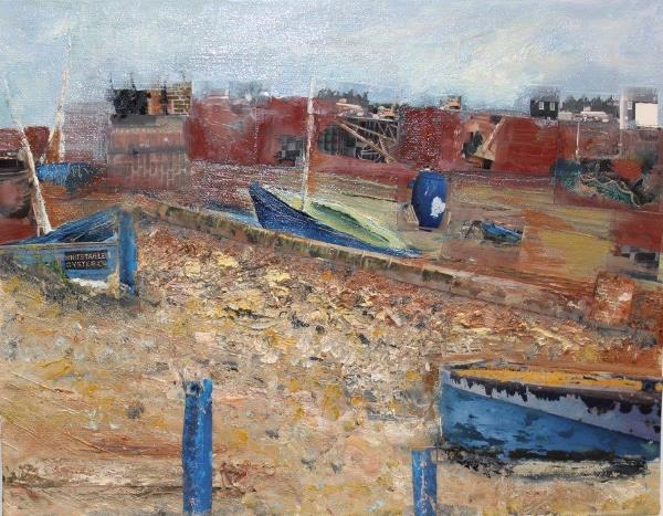 Old Hulk in Whitstable Harbour, Oils & Mixed Media, £295 600x467