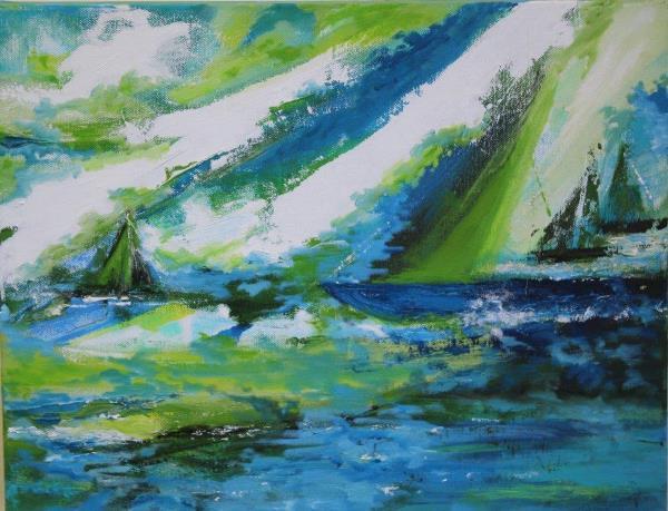 Sea and Sail, Oils, £195 600x459