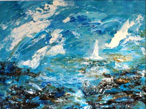 Ships in Icy Seas, Oils, Framed, £250 600x446